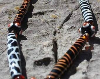 Lampwork giraffe etsy - Safari murano jewelry ...