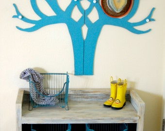 Hand Crafted Wood Coat Tree Display