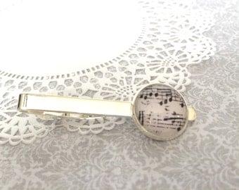 Sheet Music Tie Clip - Sheet Music Tie Tacks