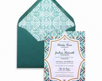 Mexican Wedding Invitation Maria Tile