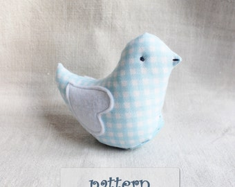 PATTERN stuffed bird toy soft bird DIY bird pattern 5x6 inches