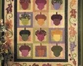Nancy Halvorsen Art To Heart Acorn Hollow Fall Quilt Book Homespun Quilting Projects To Sew Folk Art Pattern to Quilt Autumn Finds For Home