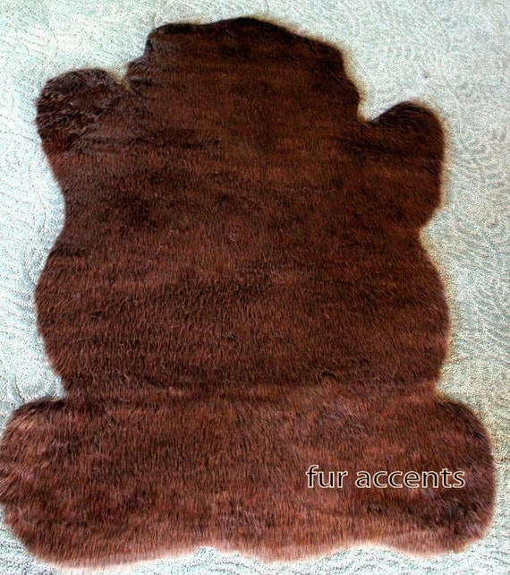 FUR ACCENTS Teddy Bear Nursery Accent Rug / Soft By FurAccents