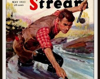 Art Print Field and Stream Fishing Magazine Cover Print 1933 Print 8 x 10