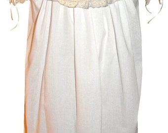 Heirloom Dress with Round Collar, French Lace and Satin Ribbon pp3002