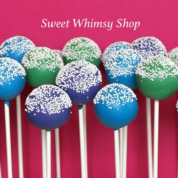 12 Sugar Crystal or Sprinkle Cake Pops - Custom Colors for birthday, wedding, baby shower, party favor, Candy Land, Candy Crush, teacher