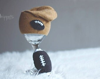 Football Stuffie Set - Newborn Photography prop, toddler photography prop, photography headband