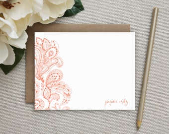 Personalized Stationery. Personalized Notecard Set. Personalized Stationary. Note Cards. Personalized. Stationery. Sets. Pretty Paisley.