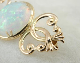 Ethiopian Opal Of The Highest Quality And Gold Brooch HTF5W0-R