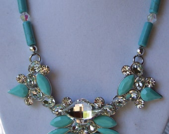 Turquoise statement necklace 0341nk