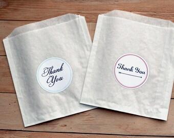 25 Custom Candy Bags / Favor Bags / Treat Bags / Paper Bags / Wedding Favor / Cookie Bags / Custom Wedding Stickers / Wedding Donut Bags