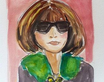 """Girl Portrait """"S"""" Whimsical original art"""