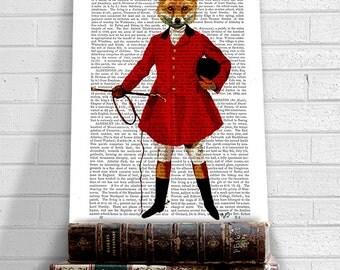 Fox Hunter 2, Full, Fox Hunting Art Print Wall Art Wall Decor Wall Hanging Fox Picture Fox Illustration hunting print hunting painting