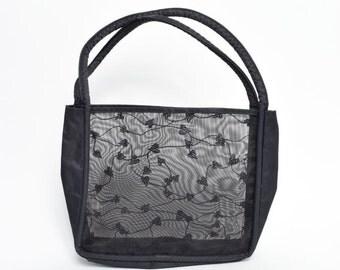Vintage 90's See Thru Mesh Shoulder Bag