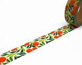 Oranges Washi Tape - Citrus Fruit Masking Tape 10m x 15mm