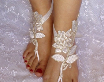 free shipping ivory gold Bridal Accessories, dance shoes, Party, Shoe accessories, wedding bridal, bridesmaid shoes, bohemian wedding shoes