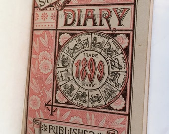 Lot of 2: vintage/antique Standard Diary and photo album of DC