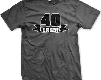 40 Classic Men's T-shirt, 40 Years Old, 40th Birthday Men's T-shirt, Men's 40th Birthday TShirts - GH_00736_tee