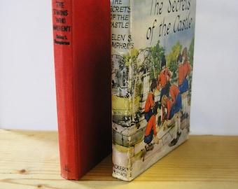 2 Vintage children's book Helen S Humphries The Twins Who Weren't The Secrets of the Castle Hardback 1970s children's literature