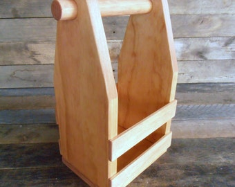 Handcrafted Rustic Little Wooden Crate Tote