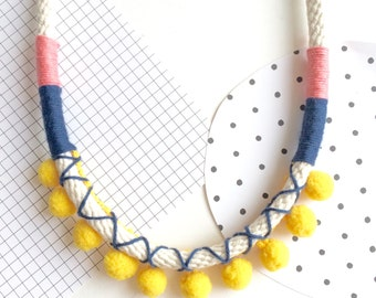 Amelie Pom Pom Necklace