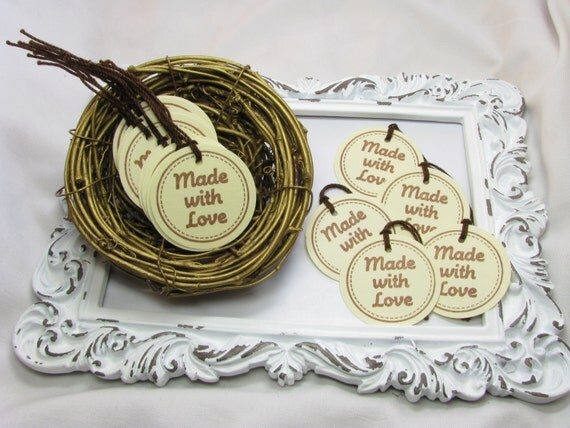 Made with love tags price tags craft trade by for Price tags for craft shows