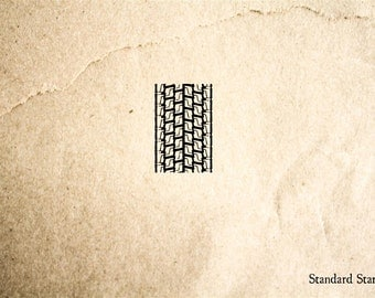 Tire Track 1 Rubber Stamp - 2 x 2 inches
