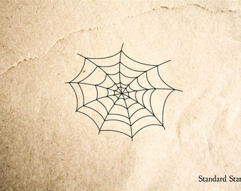 Spider Web Rubber Stamp - 2 x 2 inches