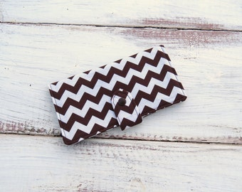 Womens Wallet | Chevron Wallet | Handmade Wallet | Checkbook Wallet | Credit Card Wallet | Zippered Wallet | Womens Large Wallet
