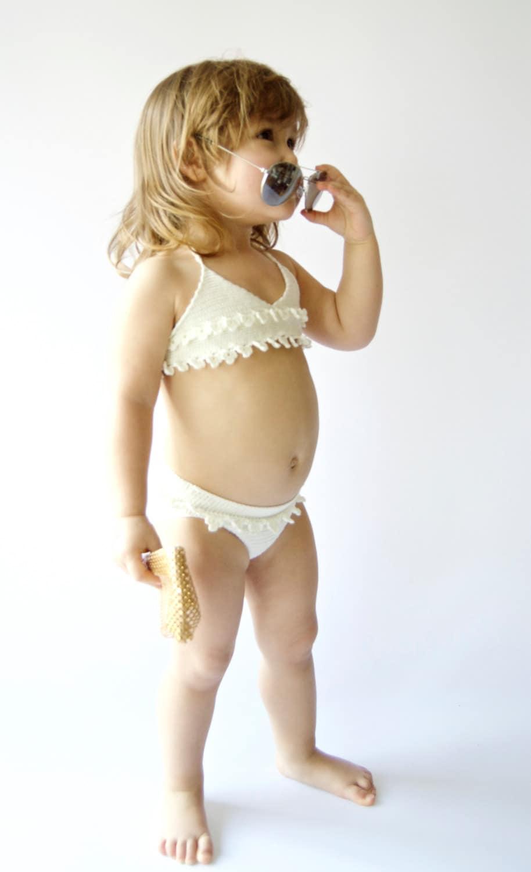 Crochet girl swimsuit. Baby Girl crochet bikini