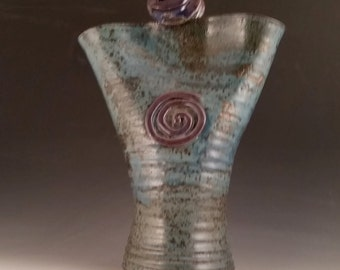 Blue and Purple Lovers Vase