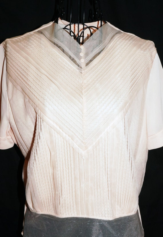 Womens Pale Pink Taffeta Blouse 98