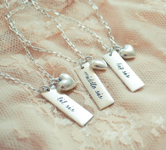 ... Sister Wedding Gift Sister Necklace Gift Big Sister Little Sister