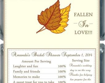 20 Fall Bridal Shower Hershey Bar Favor