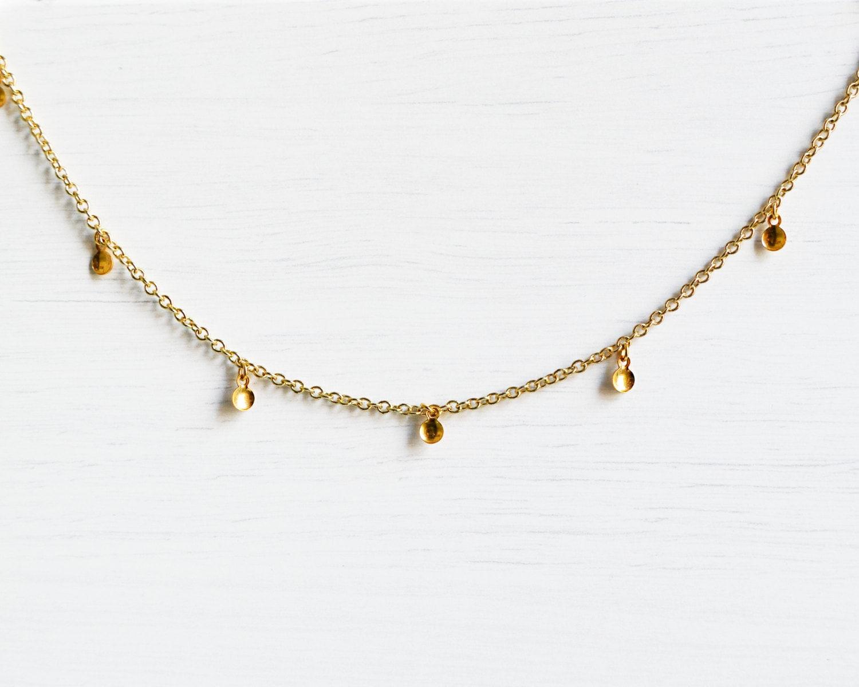 gold choker necklace gold saucer charm choker necklace