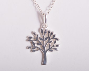 Sterling silver Tree of Life Charm Necklace 925