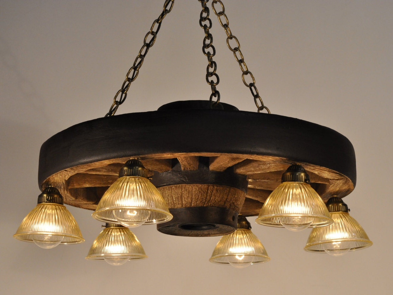 Small Wagon Wheel Chandelier Downlights Rustic By