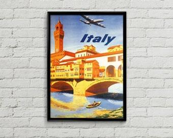 Florence print.  Firenze travel poster. Firenze art. Travel poster illustration. Wall art print. Prints illustration.