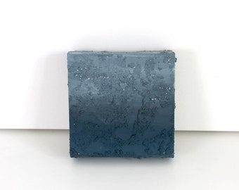 """Grey Mini 6""""x6"""" Mixed Media on canvas by Noel Young"""