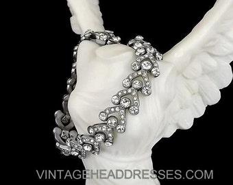 Authentic Art Deco Bracelet, 1920's Paste Bracelet, Vintage Pave Diamante Bracelet, Rhinestone Bracelet, Wedding, Bridal Jewelry, Gatsby