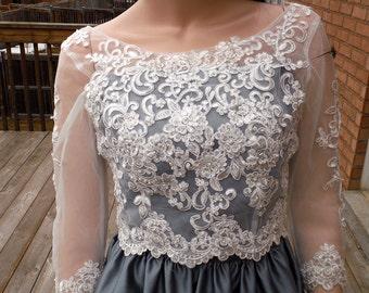 Lace wedding bolero, Ivory/white wedding bolero, lace wedding jacket