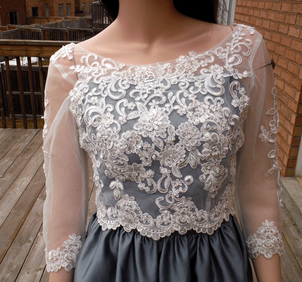 Lace Wedding Bolero Ivory/white Wedding Bolero Lace Wedding