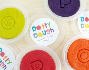 Handmade Dotty Dough - bright colours