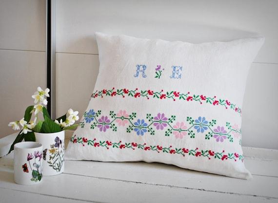 jahrgang siebenb rger bestickte kissen decken handgewebter. Black Bedroom Furniture Sets. Home Design Ideas