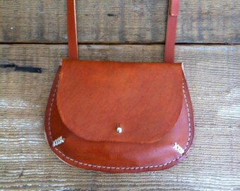 """Leather """"Scooter"""" Bag in Tan"""