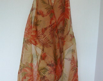 Designer Silk Scarf Coral Donna.M Collection