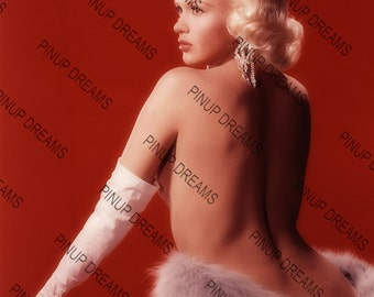 "Vintage A4 (11.7"" x 8.3"") Photo Poster Wall Art Print of Lovely Jayne Mansfield Movie Star Pin-up Legend"