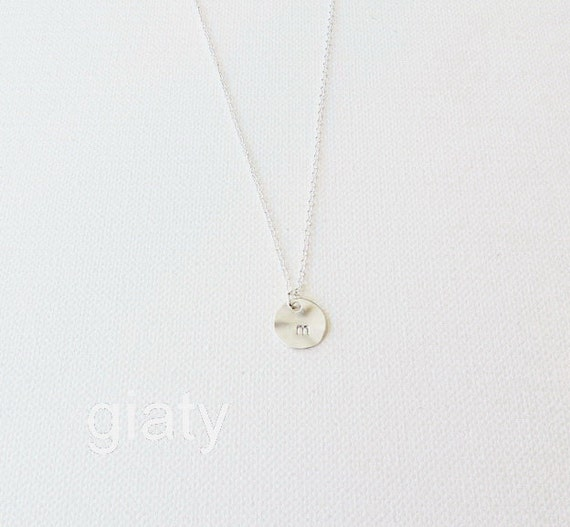 Dainty silver lowercase initial necklace letter necklace for Lowercase letter necklace