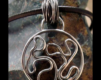 Compliment To Contrast -- Freeform Sterling Silver Pendant