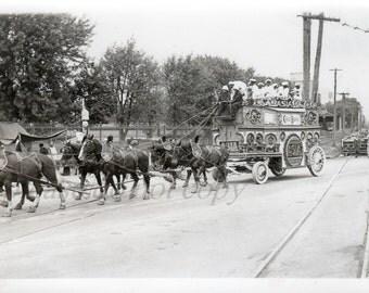 Vintage Photo ~ Circus Parade ~ original black and white photography 1936 Cole Bros